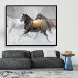 Framed 48 x 60 - Herd of wild horses