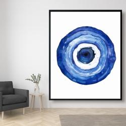 Framed 48 x 60 - Erbulus blue evil eye