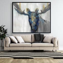 Framed 48 x 60 - Blue moose
