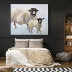 Framed 48 x 60 - Sheep and its baby