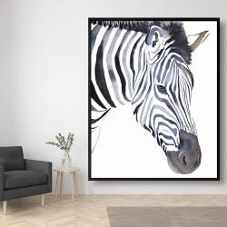 Framed 48 x 60 - Zebra