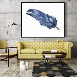 Framed 48 x 60 - Blue feather