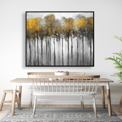 Framed 48 x 60 - Abstract yellow forest