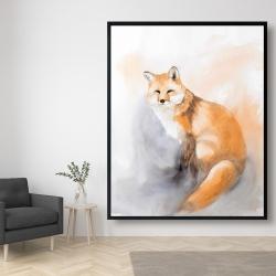 Framed 48 x 60 - Watercolor fox