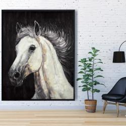 Framed 48 x 60 - White star horse