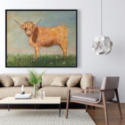 Framed 48 x 60 - Daisy the highland cow