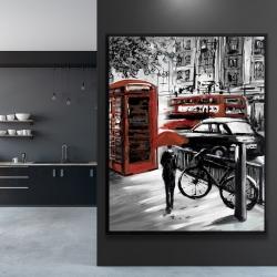 Framed 48 x 60 - European street