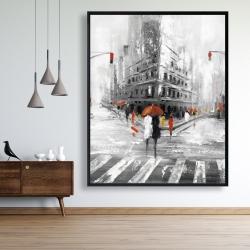 Framed 48 x 60 - Greyish flatiron building