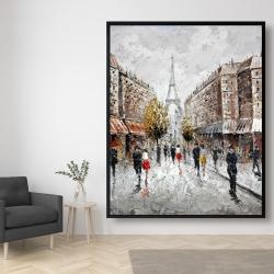 Framed 48 x 60 - Paris busy street