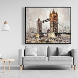 Framed 48 x 60 - London tower bridge