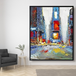 Framed 48 x 60 - Abstract and colorful buildings