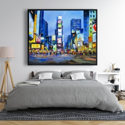 Framed 48 x 60 - Cityscape in times square