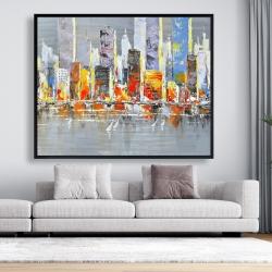 Framed 48 x 60 - Color splash cityscape
