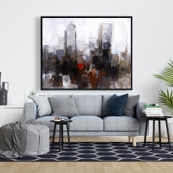 Framed 48 x 60 - Obscure city