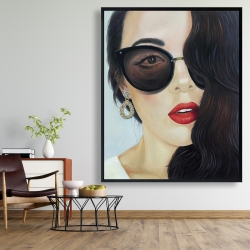 Framed 48 x 60 - Fashionable sunglasses