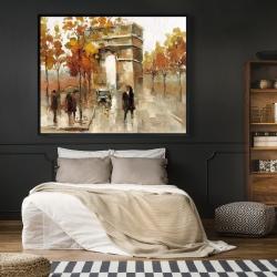Framed 48 x 60 - Arc de triomphe in autumn