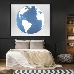 Framed 48 x 60 - The earth