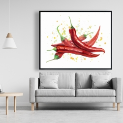 Framed 48 x 60 - Red hot peppers