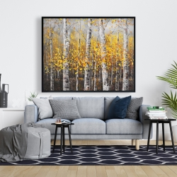 Framed 48 x 60 - Sunny birch trees