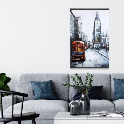 Magnetic 20 x 30 - Abstract london and red bus