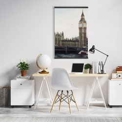 Magnetic 20 x 30 - Big ben clock elizabeth tower in london