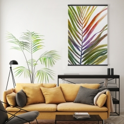 Magnetic 20 x 30 - Watercolor tropical palm leave