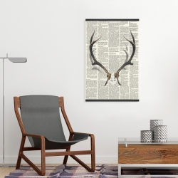 Magnetic 20 x 30 - Deer horns with newspaper
