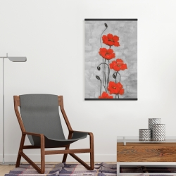 Magnetic 20 x 30 - Big red flowers