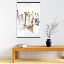Magnetic 20 x 30 - Brooklyn bridge blurry sketch