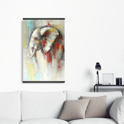 Magnetic 20 x 30 - Abstract paint splash elephant