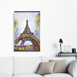 Magnetic 20 x 30 - Abstract paint splash eiffel tower