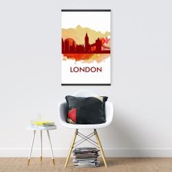 Magnetic 20 x 30 - Paint splash silhouette of london