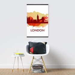 Magnetic 20 x 30 - Paint splash silhouette of london