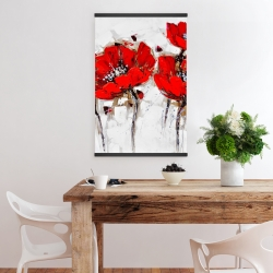 Magnetic 20 x 30 - Red poppies with texture