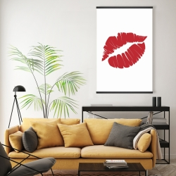 Red lipstick mark