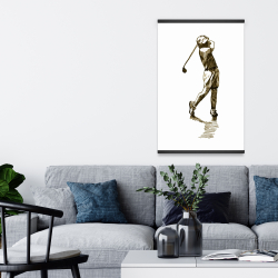 Magnetic 20 x 30 - Illustration of a golfer
