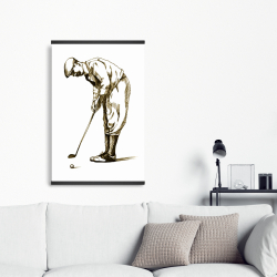 Magnetic 20 x 30 - Illustration of a concentrated golfer