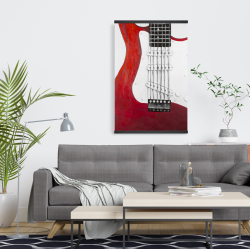 Magnetic 20 x 30 - Red electric guitar