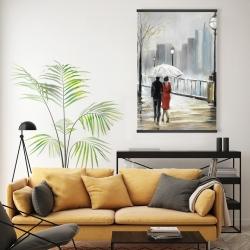 Magnetic 20 x 30 - Couple walking under the rain