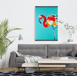 Magnetic 20 x 30 - Abstract flamingo