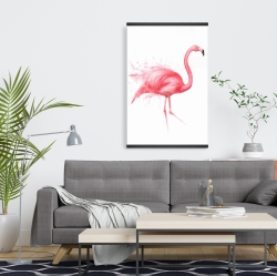 Magnetic 20 x 30 - Pink flamingo watercolor