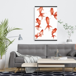 Magnetic 20 x 30 - Small red fishes