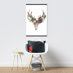 Magnetic 20 x 30 - Deer skull with flowers