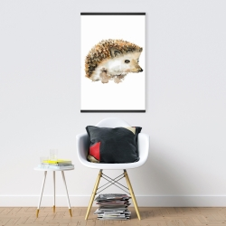 Magnetic 20 x 30 - Watercolor hedgehog