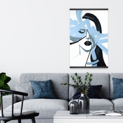 Magnetic 20 x 30 - Abstract blue woman portrait