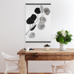 Magnetic 20 x 30 - Grayscale branch with round shape leaves