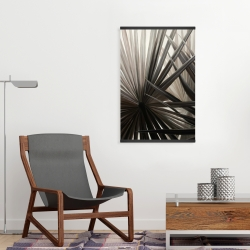 Magnetic 20 x 30 - Grayscale tropical plants