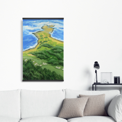 Magnetic 20 x 30 - Island overhead view with waves