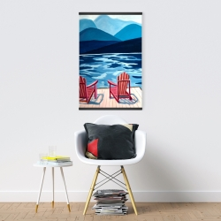 Magnetic 20 x 30 - Lake, dock, mountains & chairs