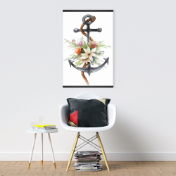 Magnetic 20 x 30 - Anchor with flowers